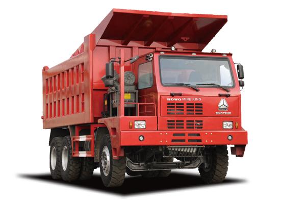 Xe tải ben Howo Bá Vương chuyên dụng cho khai thác mỏ