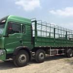 Điểm khác biệt giữa xe tải thùng 4 chân Howo  và xe tải thùng 3 chân Howo